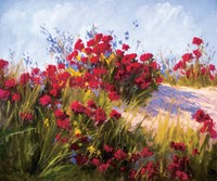 Red Poppies and Wild Flowers Fine Art Print