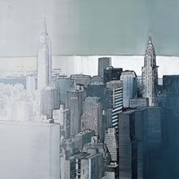 Chrysler and Empire State Buildings Fine Art Print