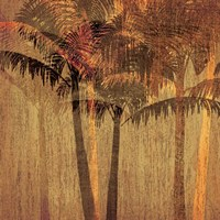 Sunset Palms II Fine Art Print