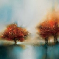 Morning Mist & Maple II Fine Art Print