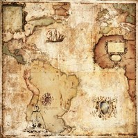 Map of Discovery Fine Art Print