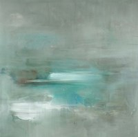 Misty Pale Azura Sea Fine Art Print