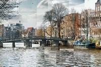Zwanenburgwal Canal Fine Art Print