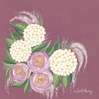 Floral in Plum Fine Art Print
