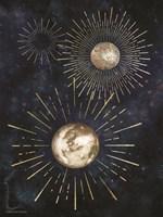 Gold Celestial Rays IV Fine Art Print