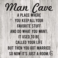 Man Cave Fine Art Print