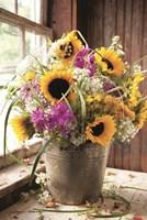 Wildflowers in Bucket Fine Art Print