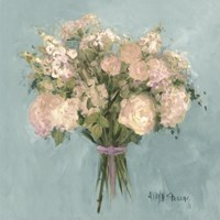 Blue Rose Bouquet I Fine Art Print