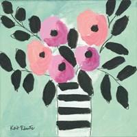 Blooms & Stripes Fine Art Print