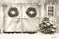 Christmas Barn Doors Fine Art Print