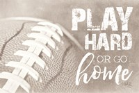 Football - Play Hard Fine Art Print