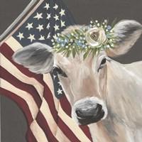 Patriotic Cow Fine Art Print