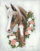 Floral Ponies Fine Art Print