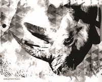 Modern Black & White Rhino Fine Art Print