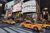 Times Square Taxi I Fine Art Print