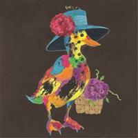 Duck in Dark Gray Fine Art Print