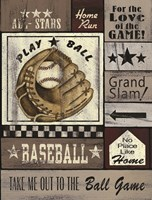 Baseball All Stars Fine Art Print