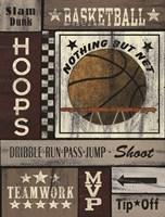 Basketball Hoops Fine Art Print