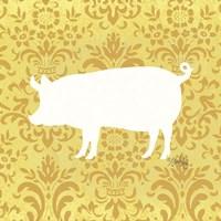 Pig Silhouette Fine Art Print