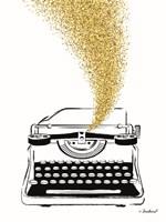 Glitter Typewriter Fine Art Print