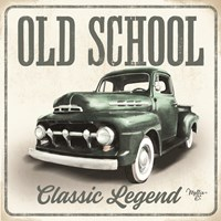 Old School Vintage Trucks III Fine Art Print