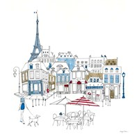 World Cafe II Paris Color Fine Art Print
