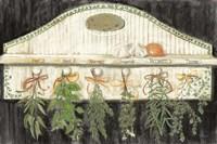 Herbs on Pegs Black Fine Art Print