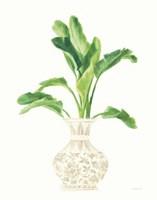 Palm Chinoiserie I Cream Framed Print