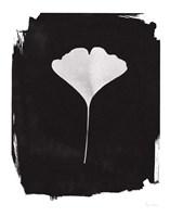 Nature by the Lake Gingko I Black Fine Art Print