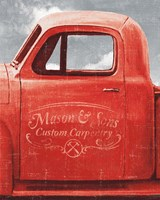 Lets Go for a Ride II Red Truck Fine Art Print
