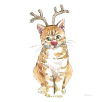 Christmas Kitties III Square Fine Art Print