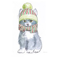 Christmas Kitties II Square Fine Art Print
