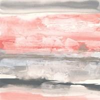 Charcoal and Coral II Fine Art Print