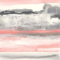 Charcoal and Coral I Fine Art Print