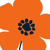 Pop Art Floral I Orange Framed Print