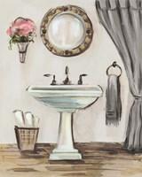 Tuscan Bath IV Greige Fine Art Print