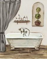 Tuscan Bath I Greige Framed Print