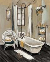 French Bath II Black Fine Art Print