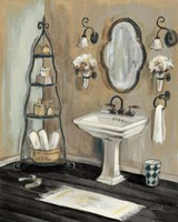 French Bath I Black Fine Art Print