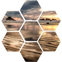 Pacific Low Tide (hexagon) Fine Art Print