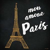 Mon Paris Gold I Fine Art Print