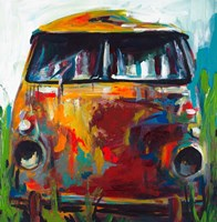 Retro Love Bus Fine Art Print