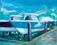 Docked Boats Fine Art Print