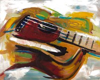 Colorful Guitar Fine Art Print