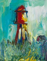 Painted Water Tower Fine Art Print