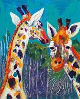 Colorful Giraffes Fine Art Print