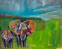 An Elephant's Love Fine Art Print