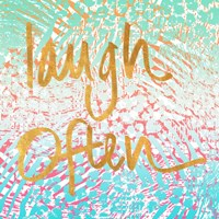 Laugh Often Neon Fine Art Print