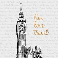 Live Love Travel Fine Art Print