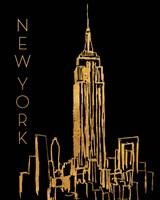 New York on Black Fine Art Print